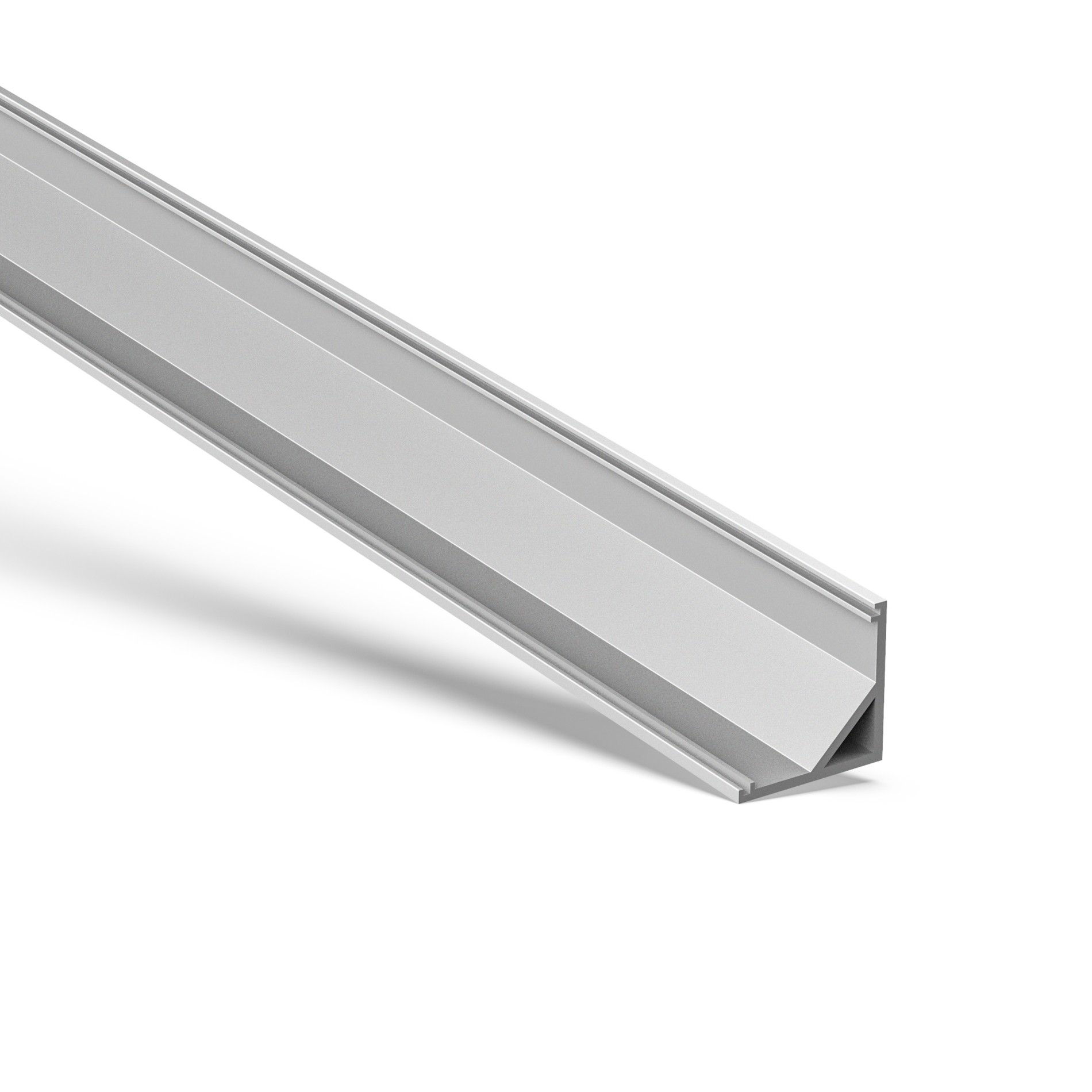 AC1 45˚ Corner Aluminium Profile with square cover 16x16mm