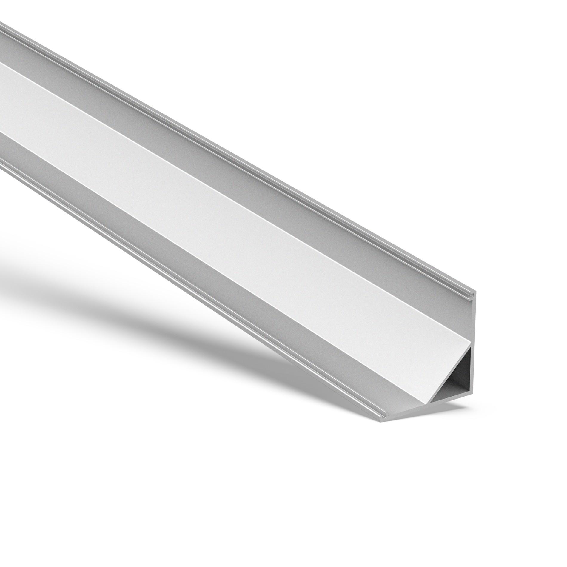 AC4 Større 45˚ Hjørnealuminium LED-profil til LED-strip 30x30mm