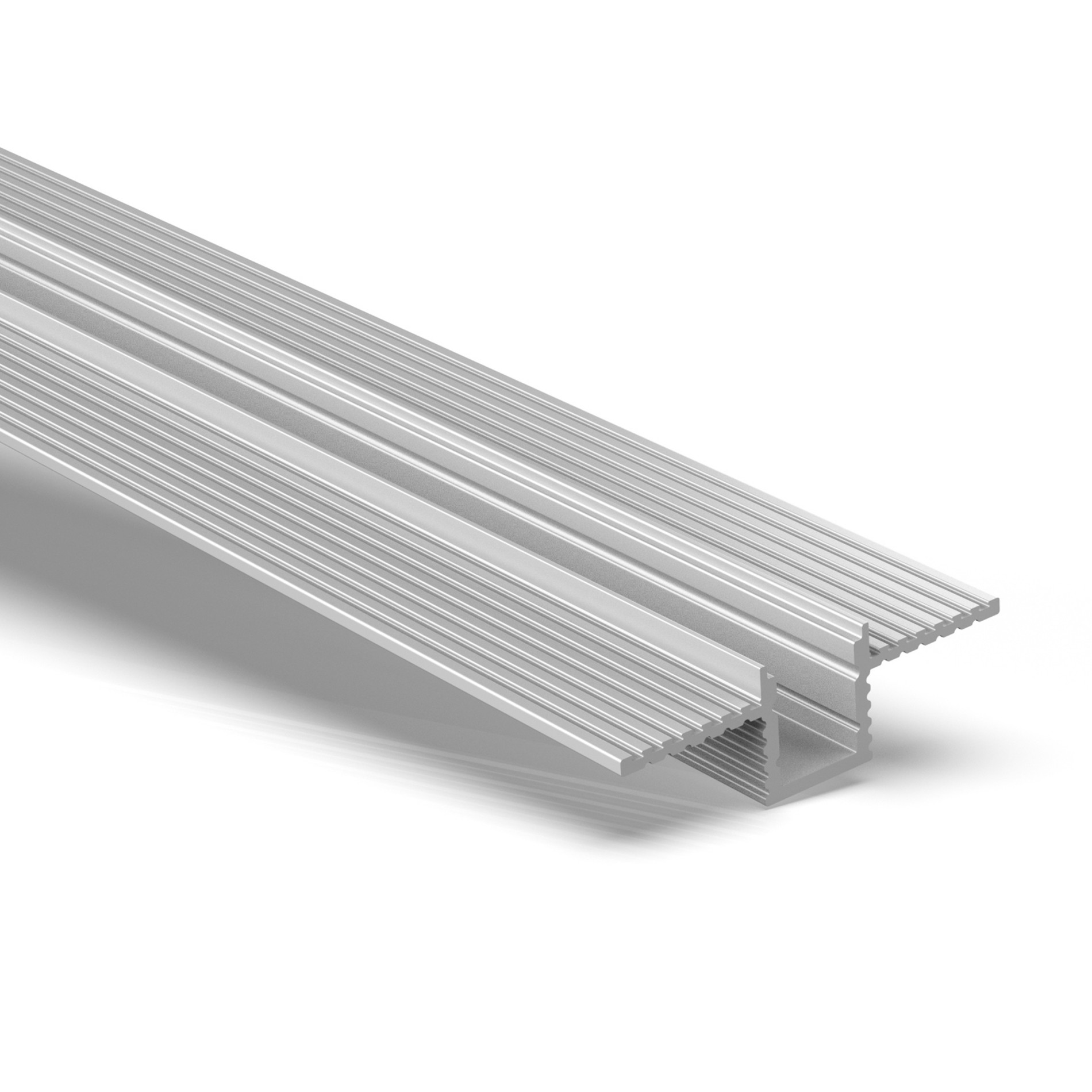CT9 Trimless Aluminium Extrusions for recessing into plasterboard walls and ceilings 28x9mm