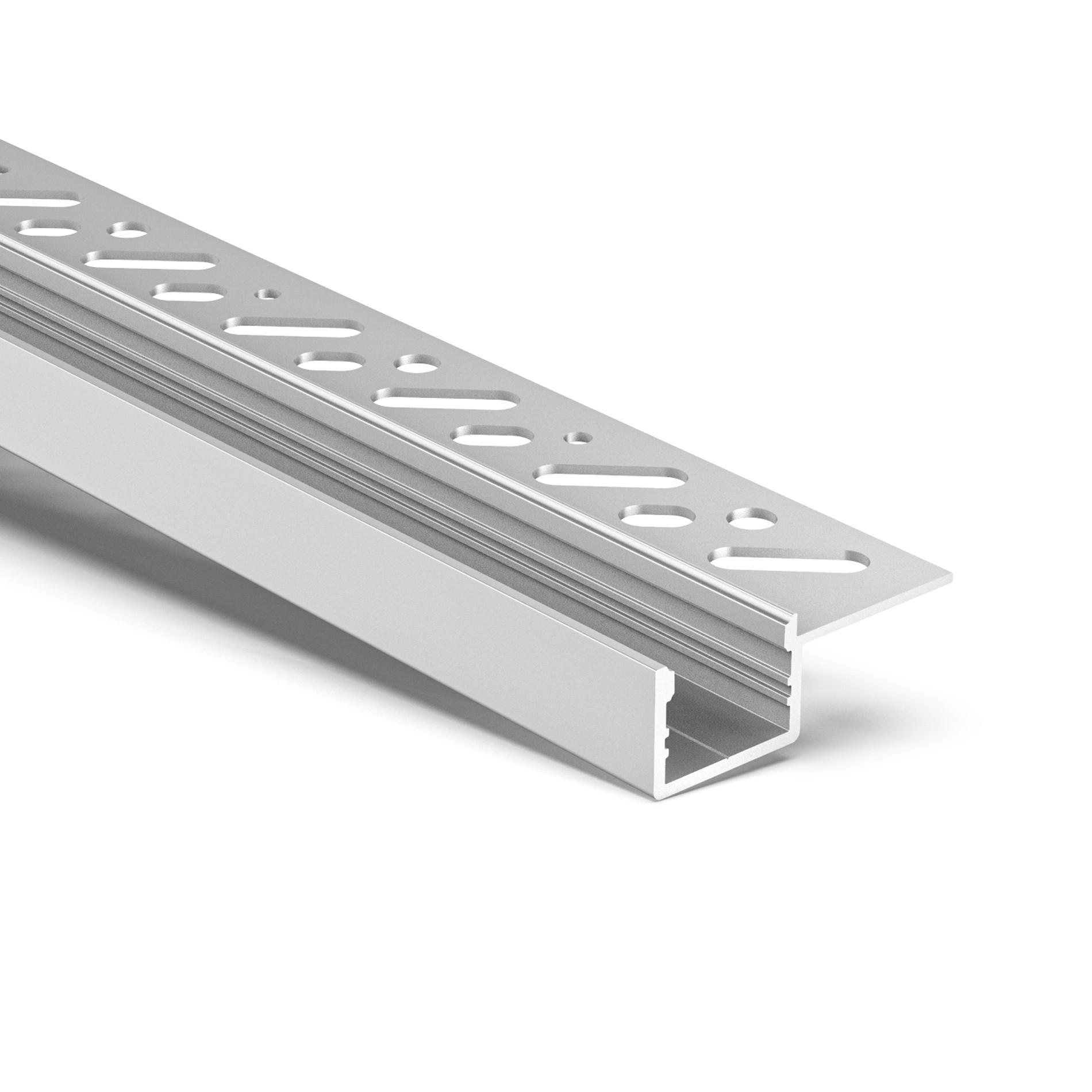 CT5S Trimless Aluminium Extrusions for recessing into plasterboard edge 38.8x13.6mm