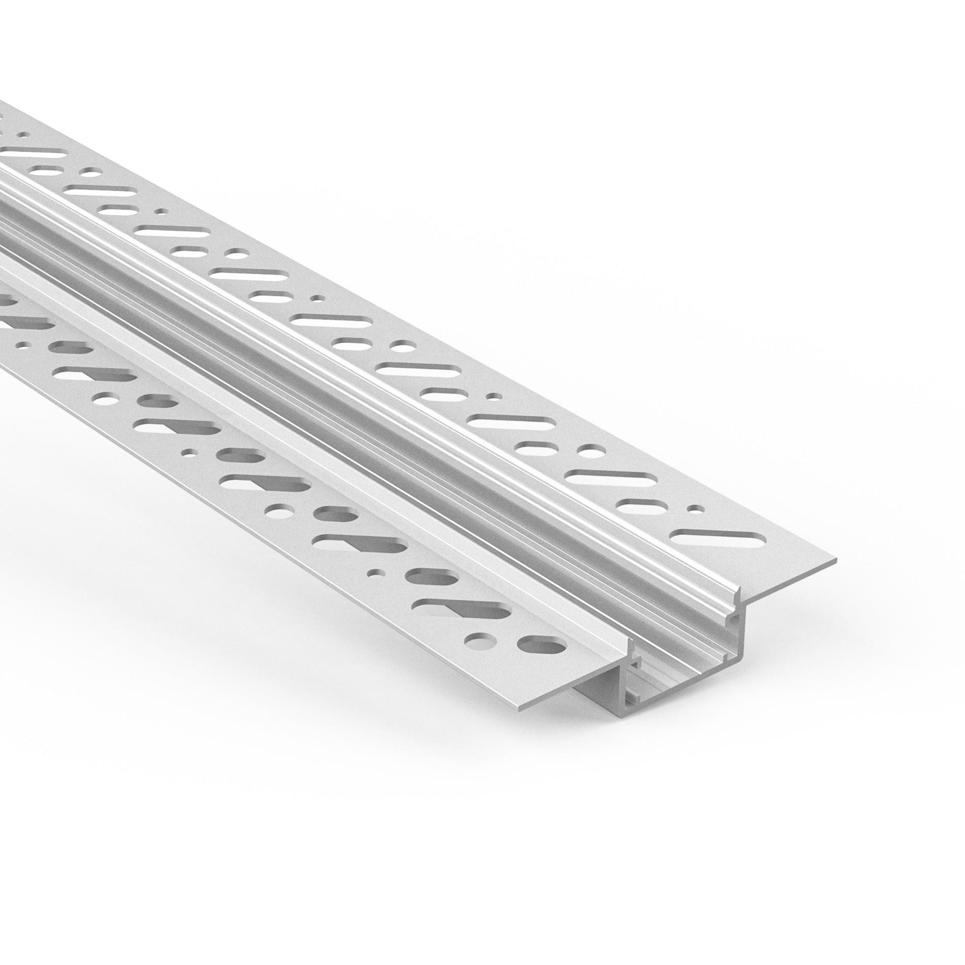 CT4N Trimless Aluminium Extrusions zum Einbau in Gipskartonwände und -decken 66,4x14,1 mm