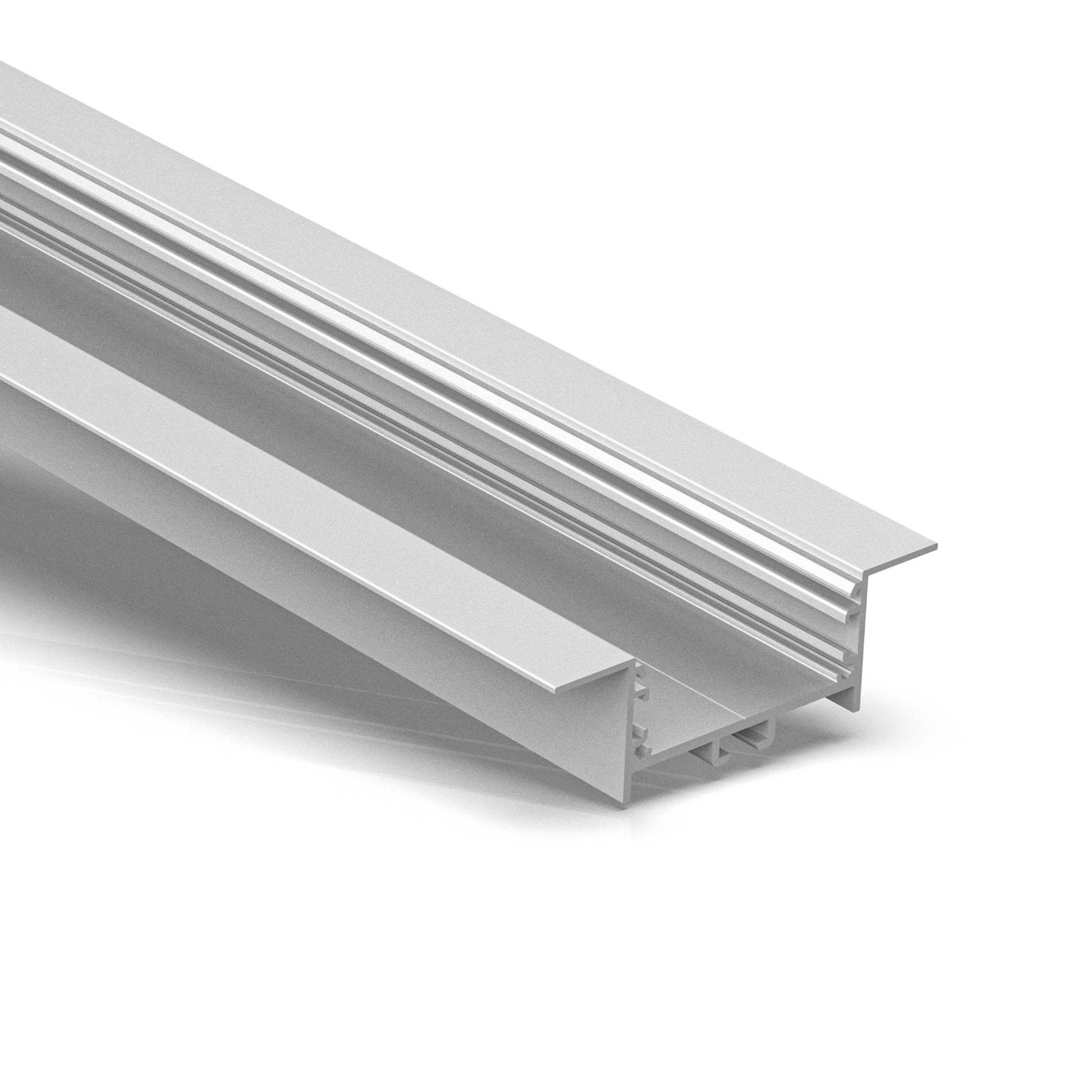 ER50-2 50 mm breites, versenktes LED-Extrusionsprofil 80 x 25 mm