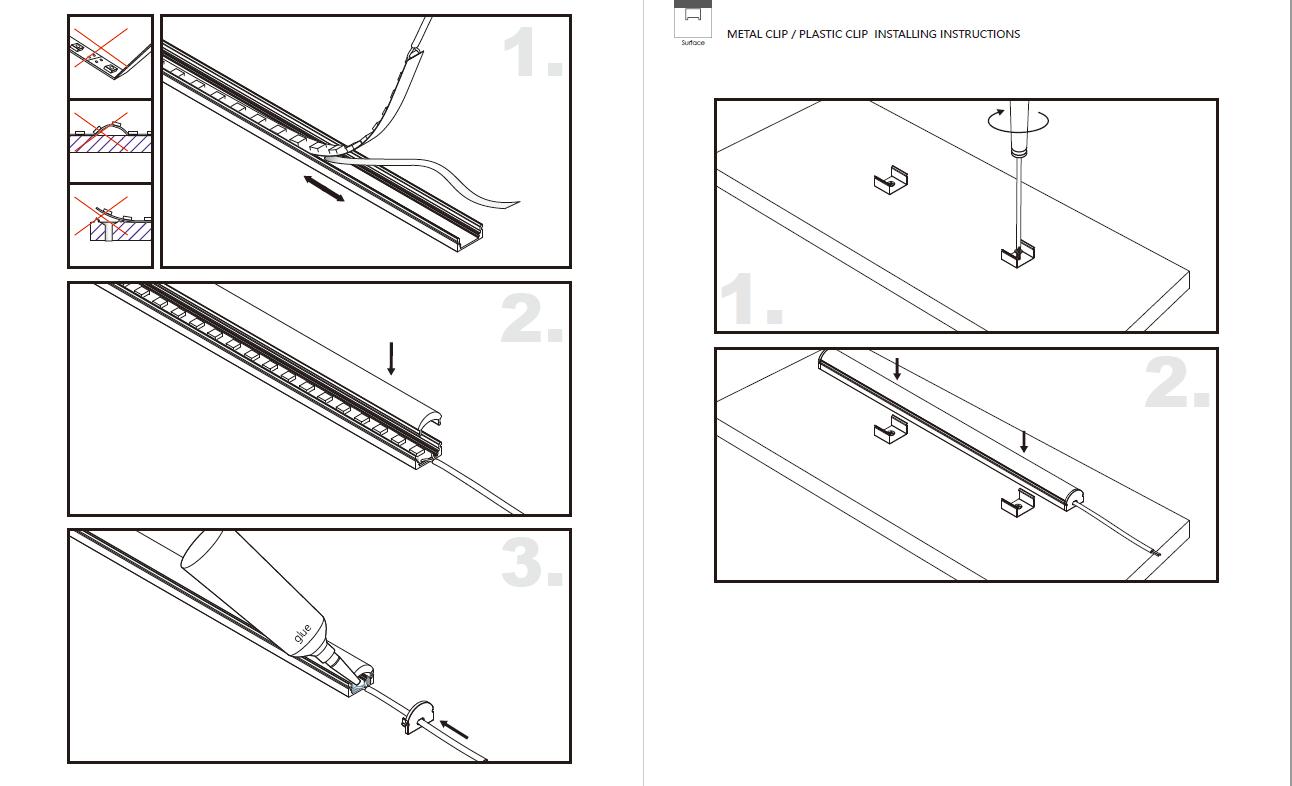 Linsen- / optisches LED-Profil für LED-Streifen