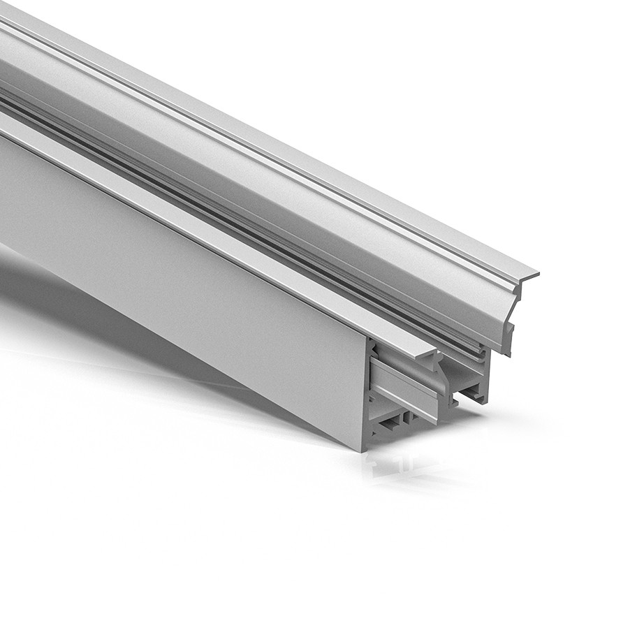 ER50 50mm wide recessed led extrusion profile 64x45mm
