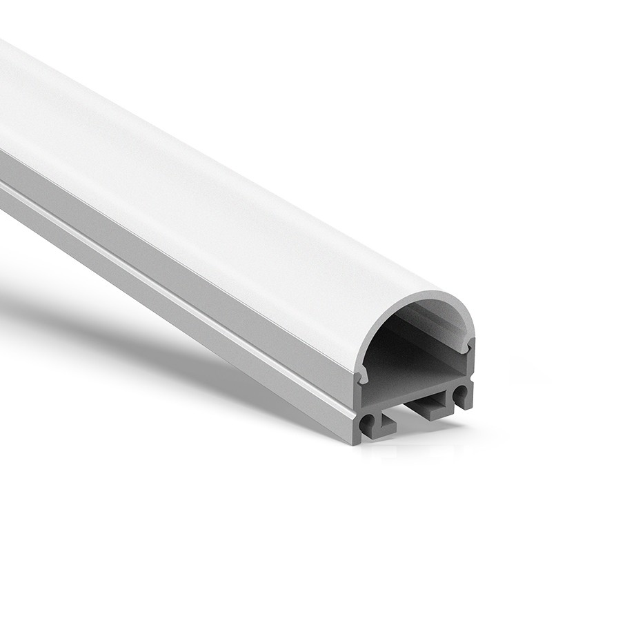 AT4 Oberflächen- oder hängendes quadratisches LED-Streifenprofil 19,5 x 18,8 mm