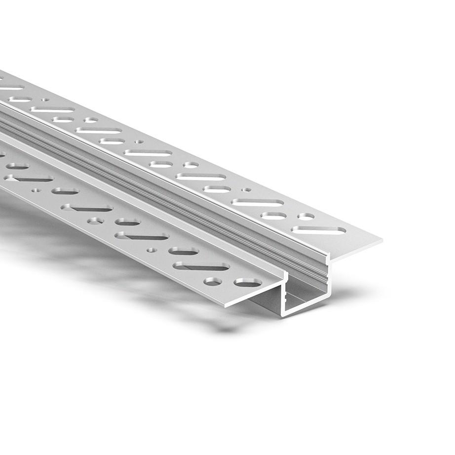 CT5 Trimless Aluminium Extrusions zum Einbau in Gipskartonwände und -decken 58,9 x 13,7 mm