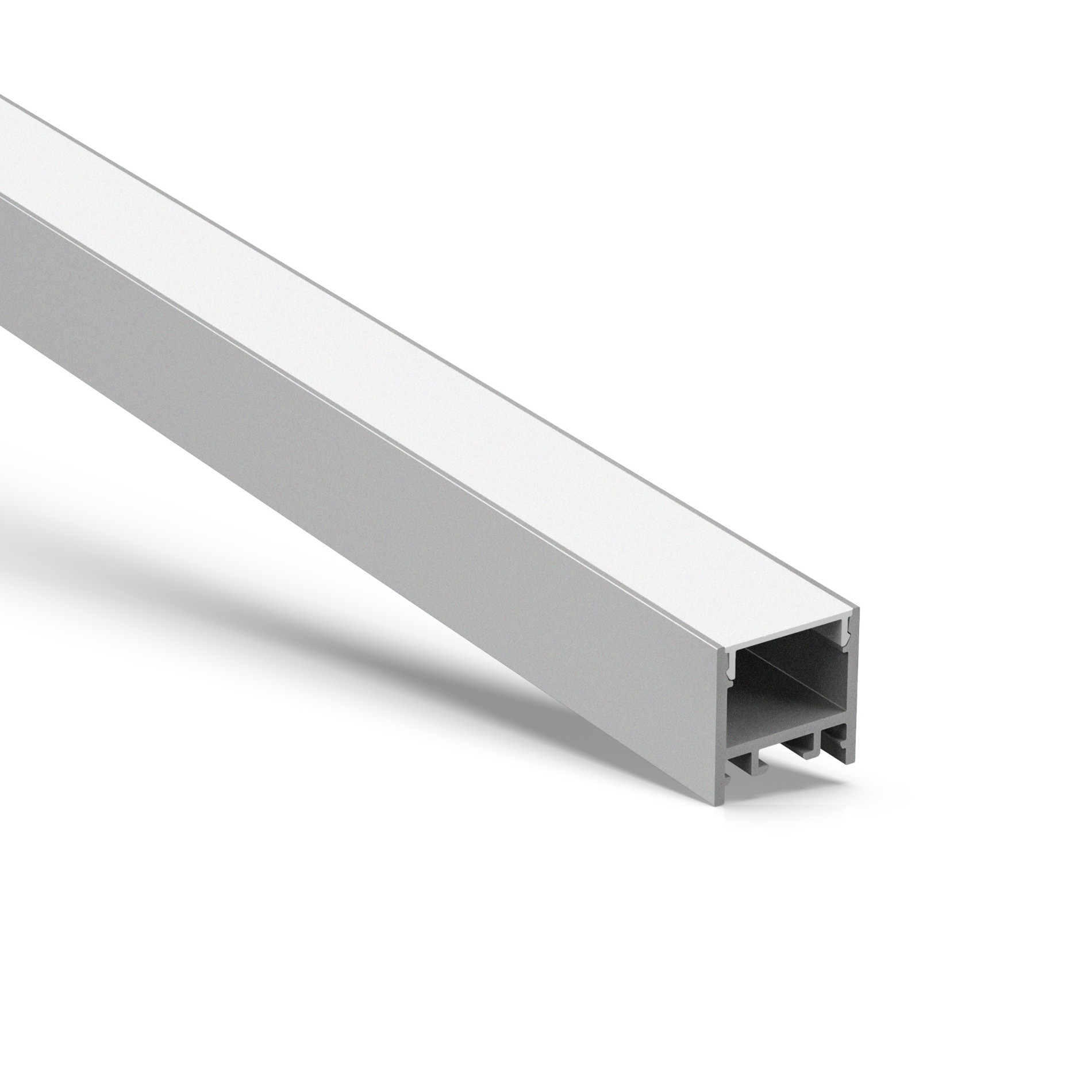 Perfil LED cuadrado de superficie US20 20x20mm