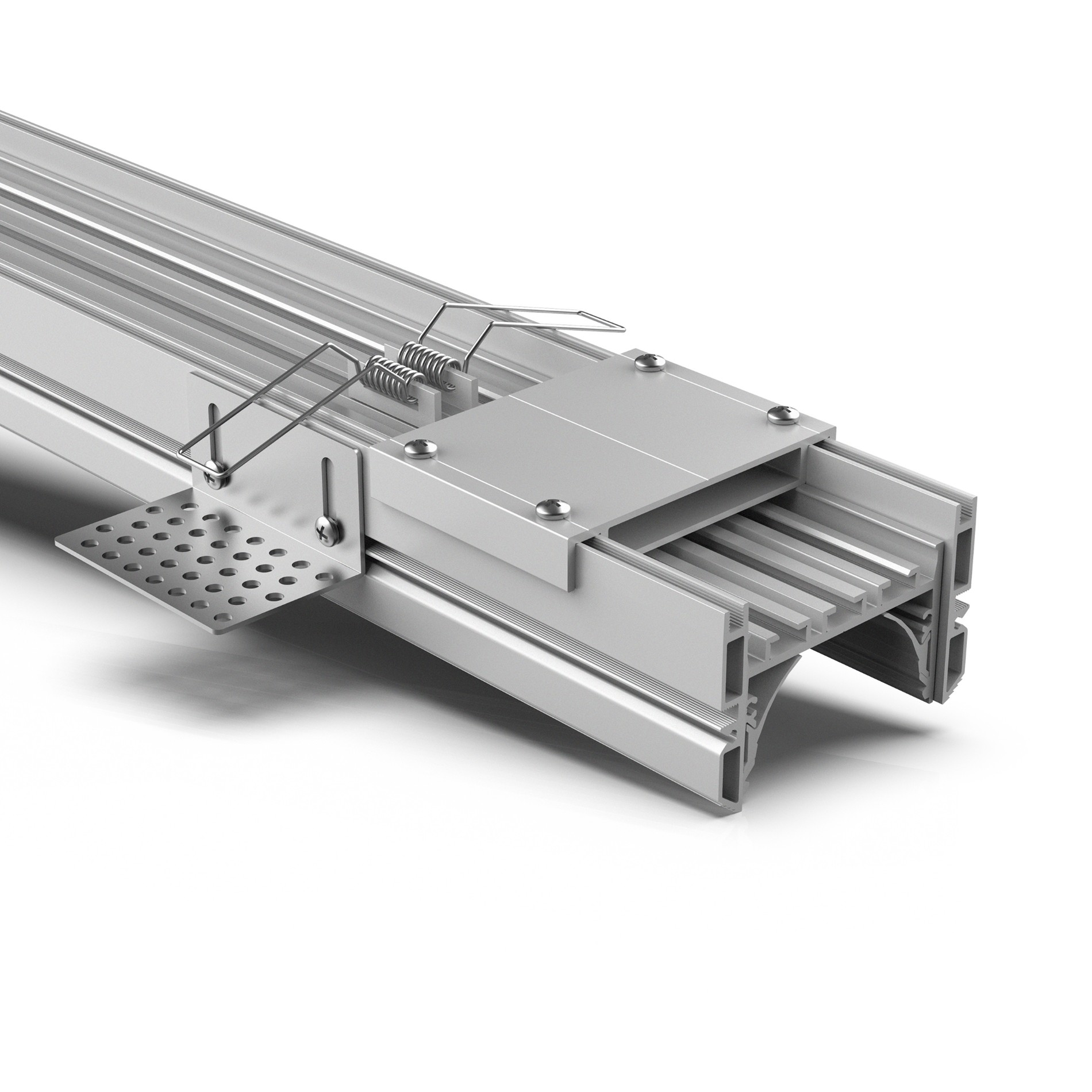 TR60 60mm Trimless led profile for gypsum ceiling 74.7x48mm