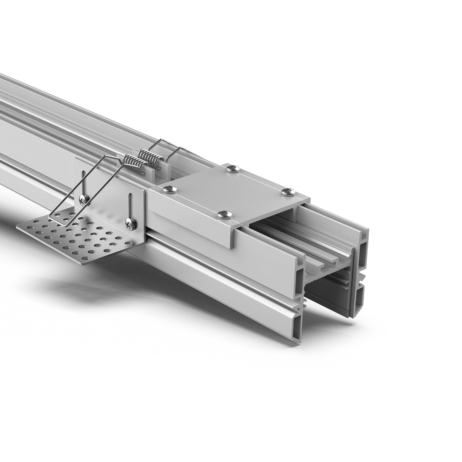 TR35 35mm Trimless led profile for gypsum ceiling 50x48mm