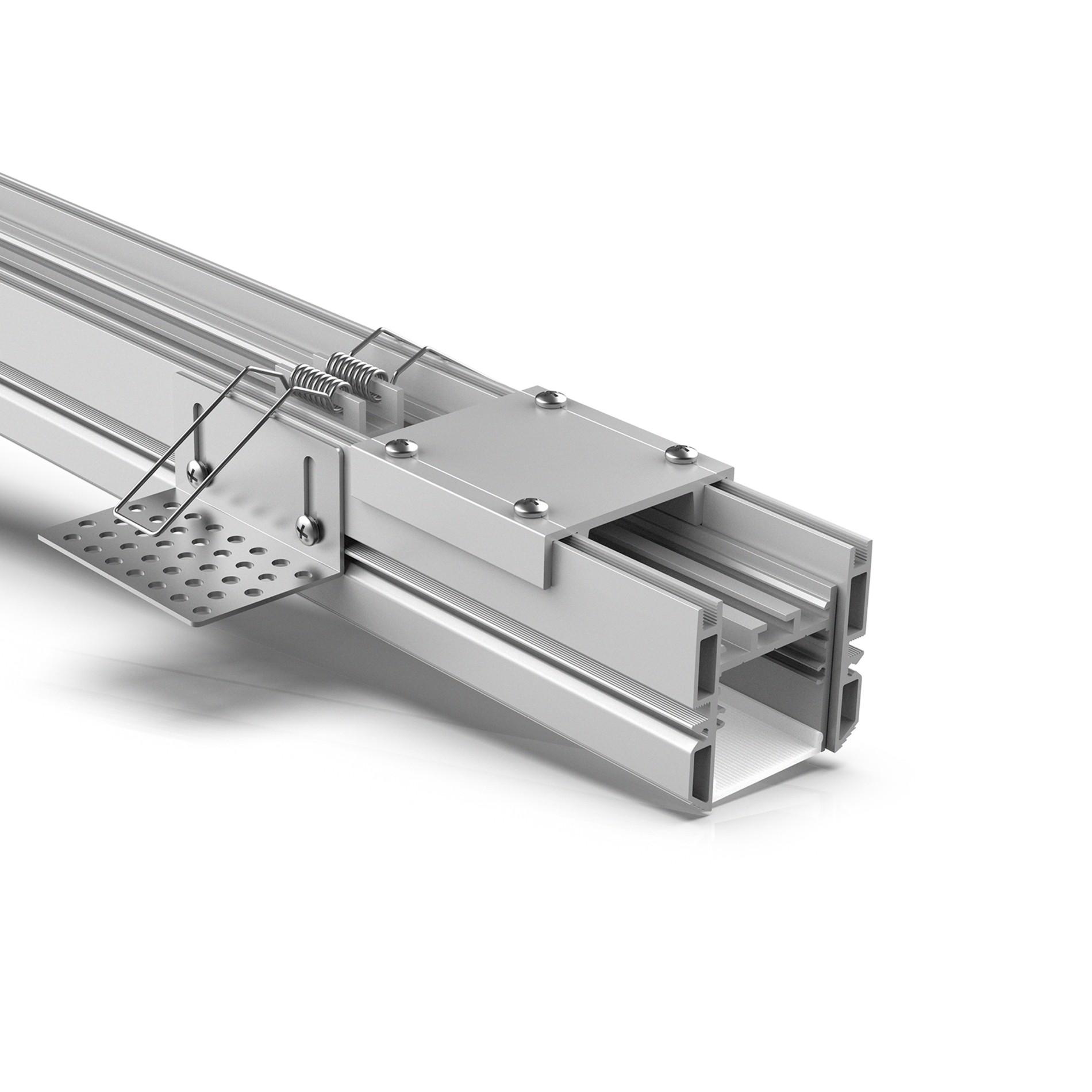 TR35 35mm Perfil led sin molduras para techo de yeso 50x48mm