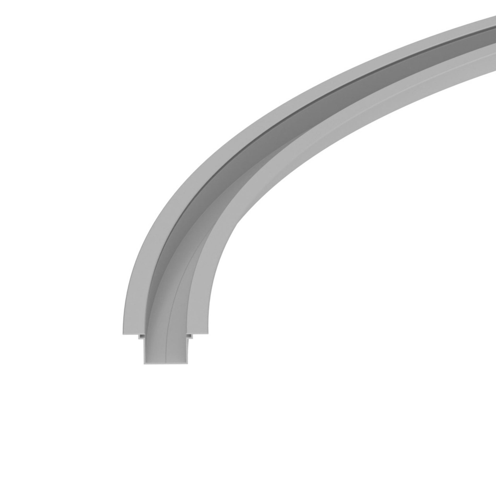 ER34 Recessed curved led profile 34x27mm