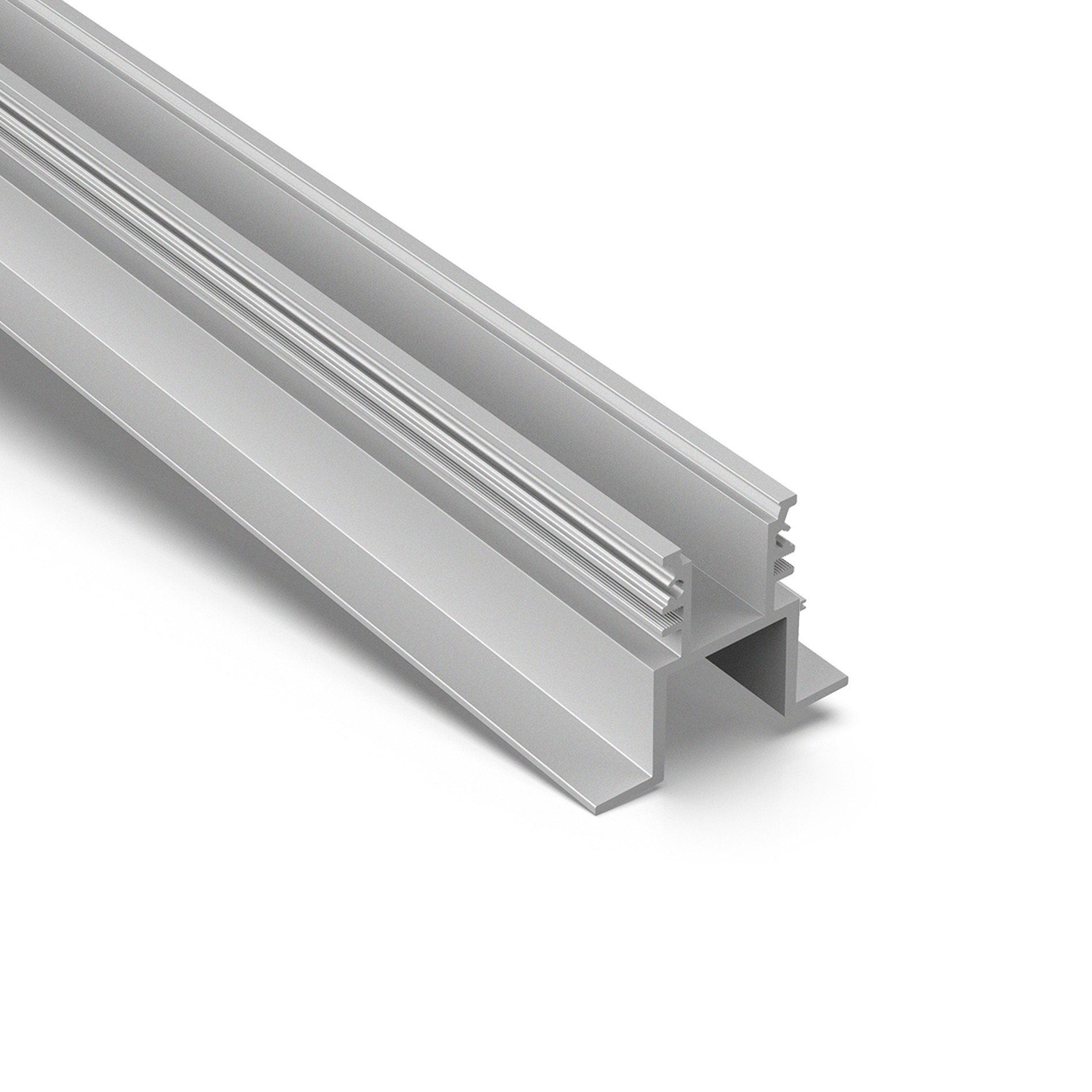 AF3 Recessed inground glass+steel+ aluminum profile for drive over 79x65mm