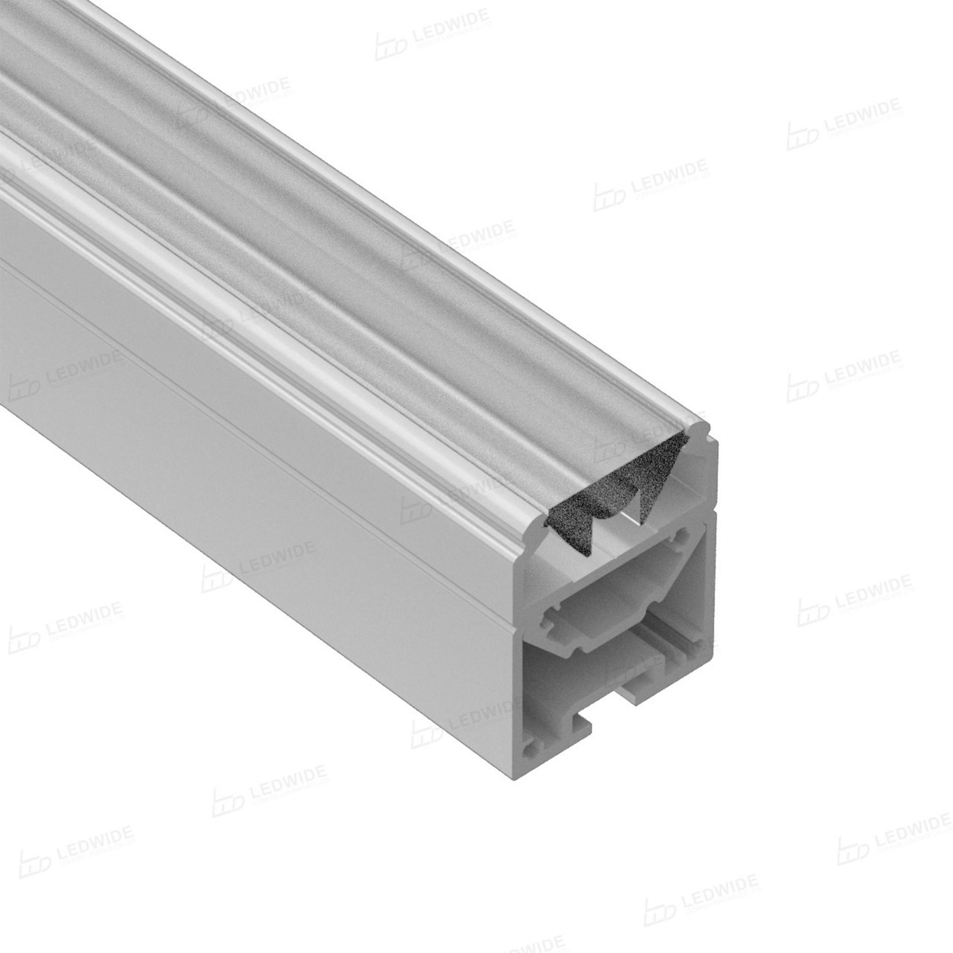 AT15-30 Base de perfil de aluminio ajustable para un uso versátil 25x29.7 mm
