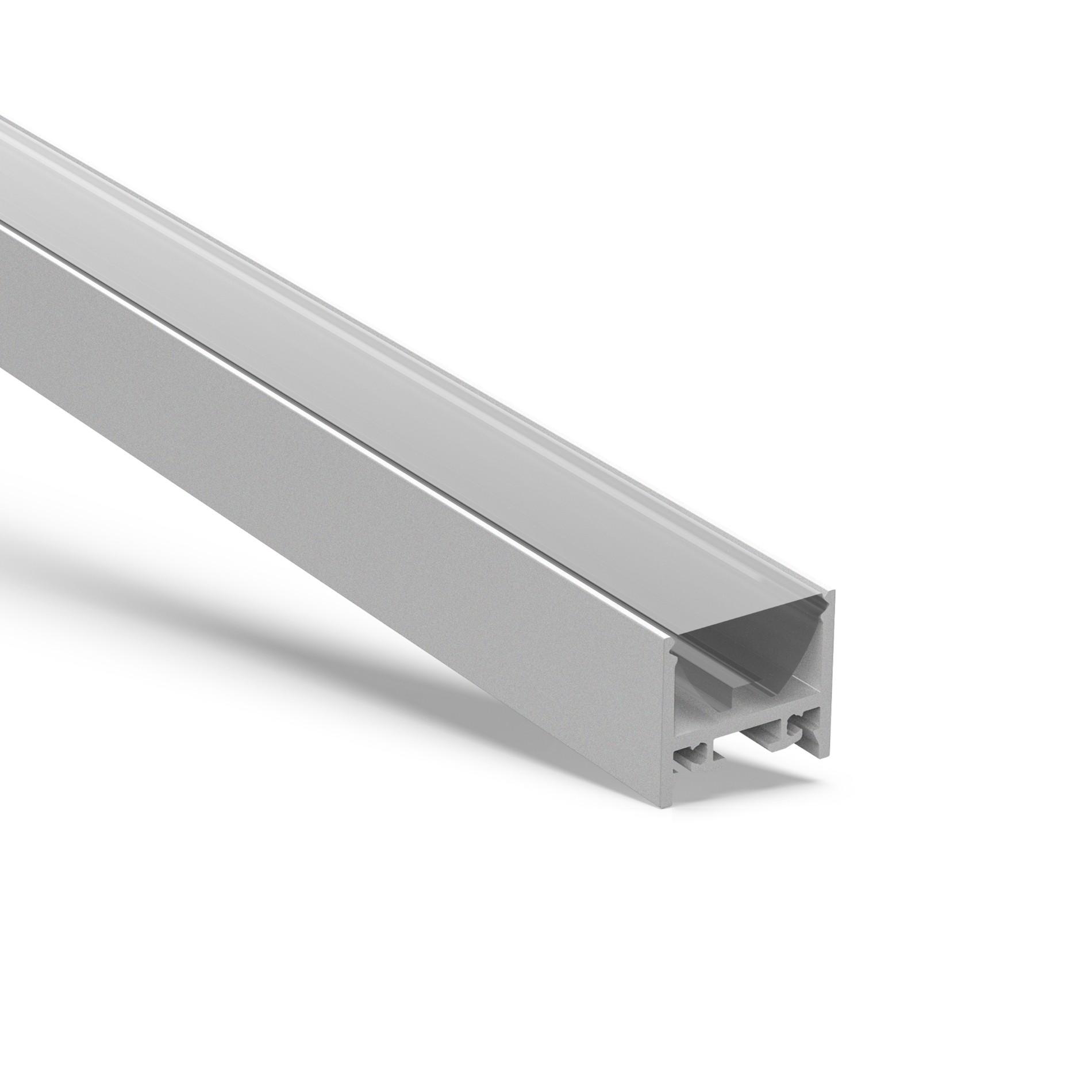 AT16-30 Foco 30 grados lente aluminio extrusión 19.5x17.35mm