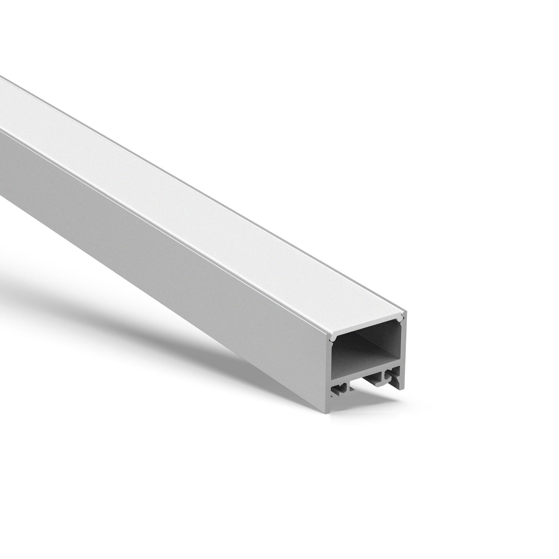 AT16-11 Perfil cuadrado cuadrado de superficie 19.5x17.35 mm