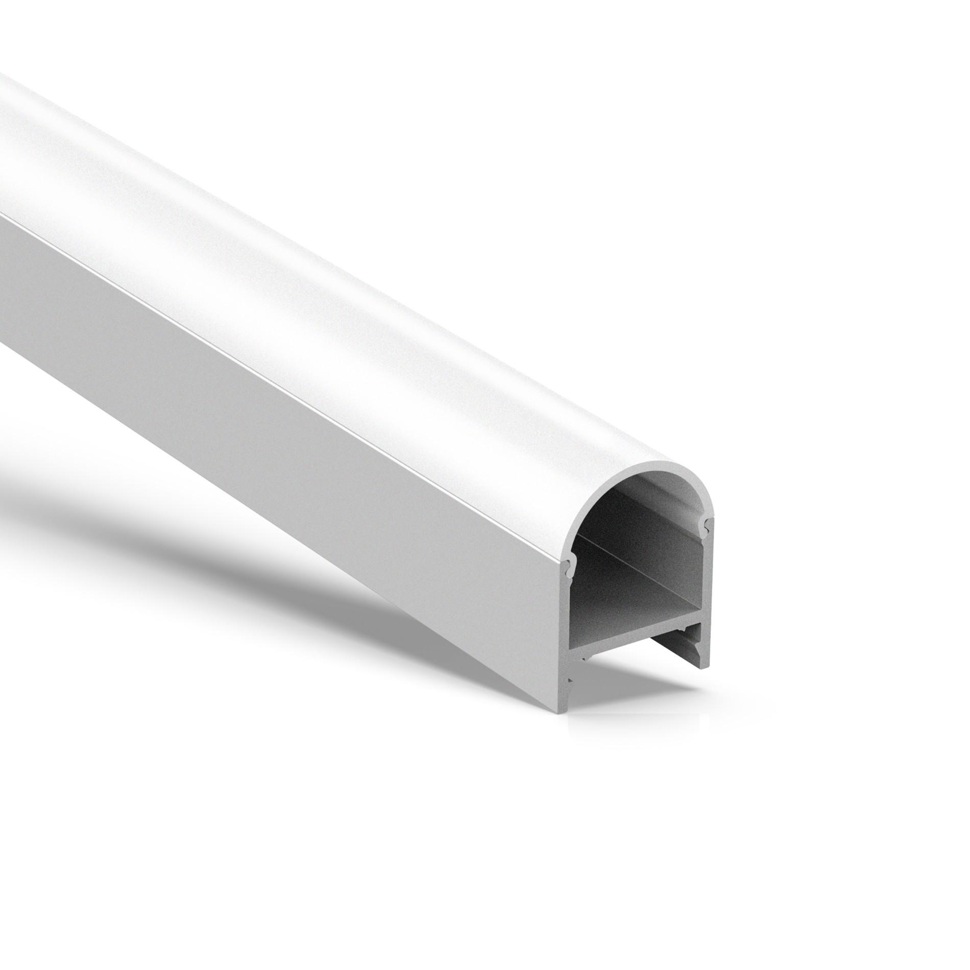 AT16-4 Perfil cuadrado cuadrado de superficie más profunda 19.5x26.2mm