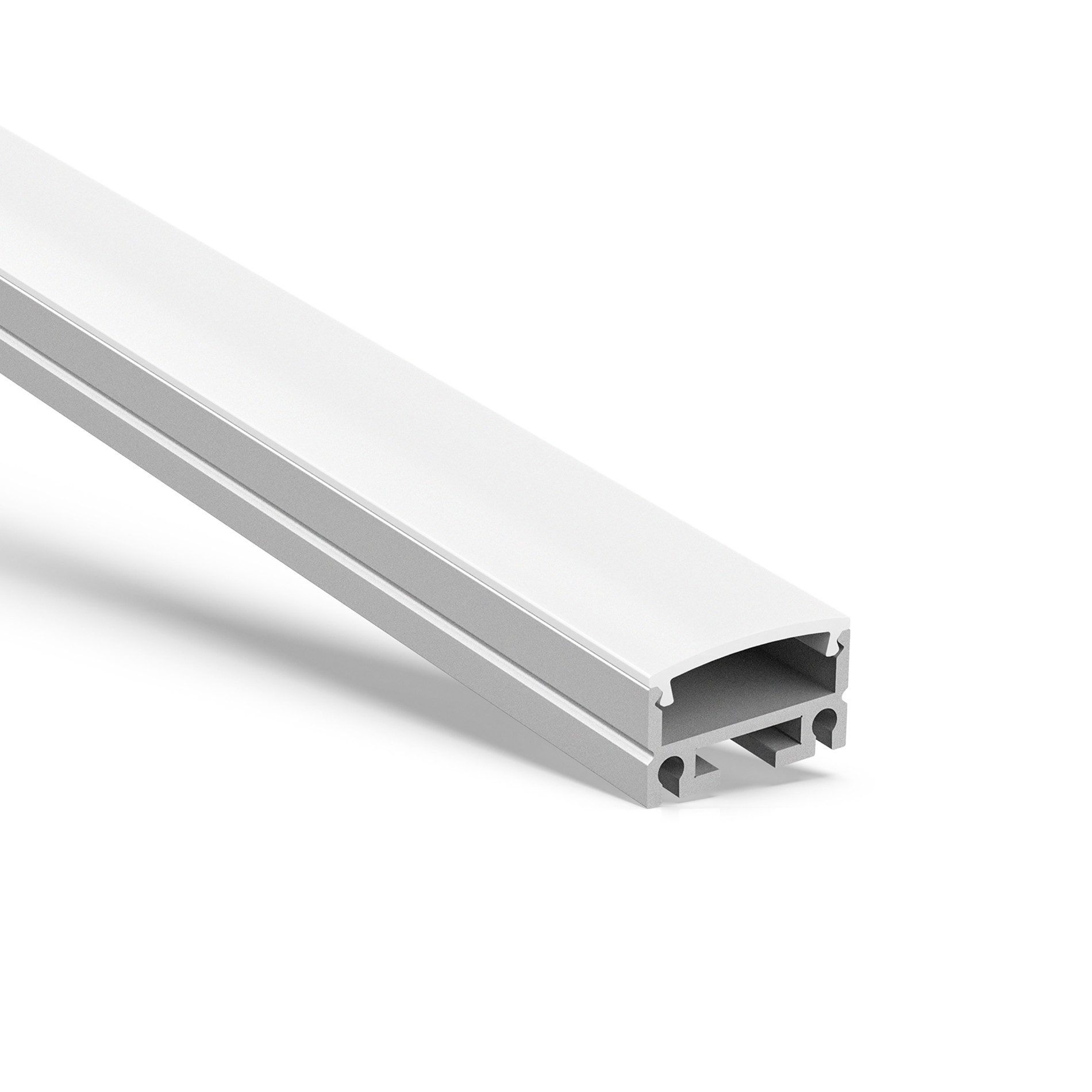 AT11 Flat Surface or suspended aluminum led profile 19.5x12.4mm