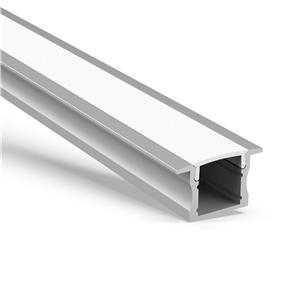 Perfil LED de aluminio empotrado AR2 de 15 mm de alto 23x15.2 mm