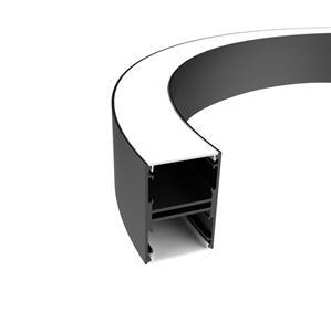 C50N Perfil colgante curvo de 50 mm de ancho 51x75 mm