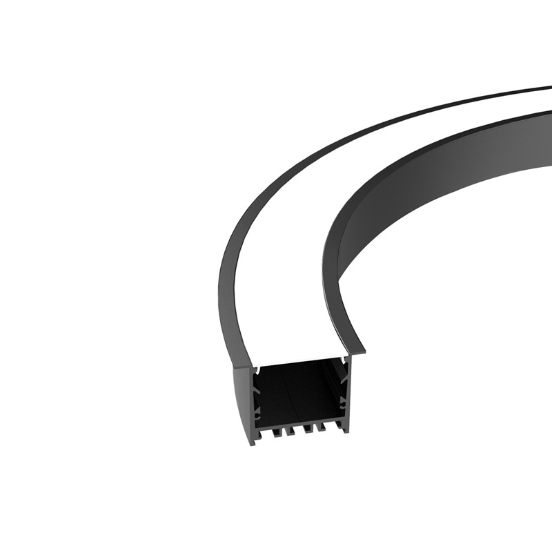 Perfil empotrado curvado flexible CR50 de 50 mm 64x45,1 mm