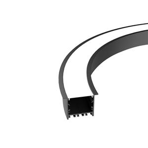 CR50 50mm bendable curved recessed profile 64x45.1mm