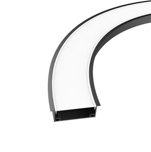 CRX80 80mm bendable curved recessed profile 98x37.5mm