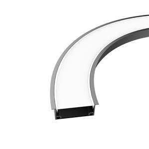 Curved led lighting profile 100mm wide item LW-CRX100