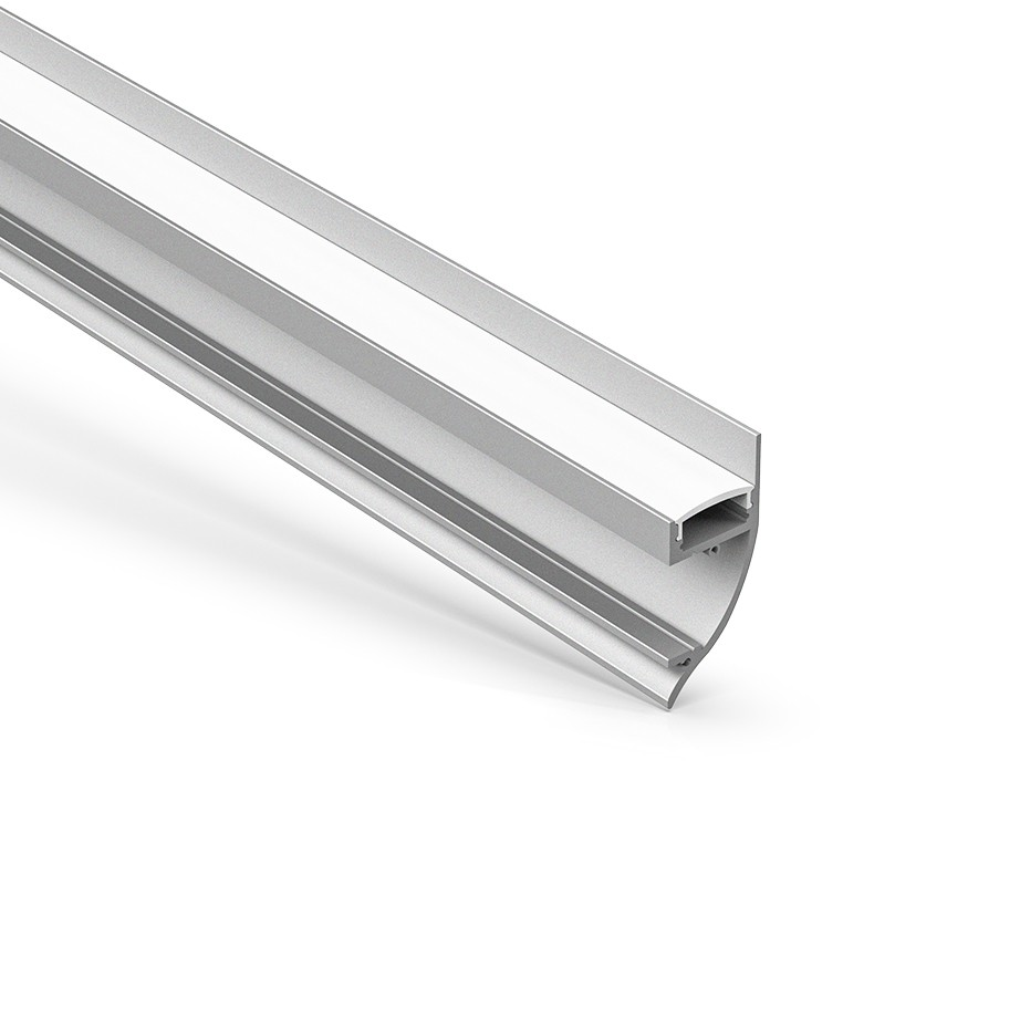 AW8 Overfladevæg Mount Aluminium LED Channel 17,5x40mm