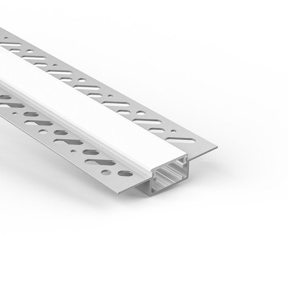 CT4N Trimless Aluminium Extrusions til forsænkning i gipspladevægge og lofter 66.4x14.1mm