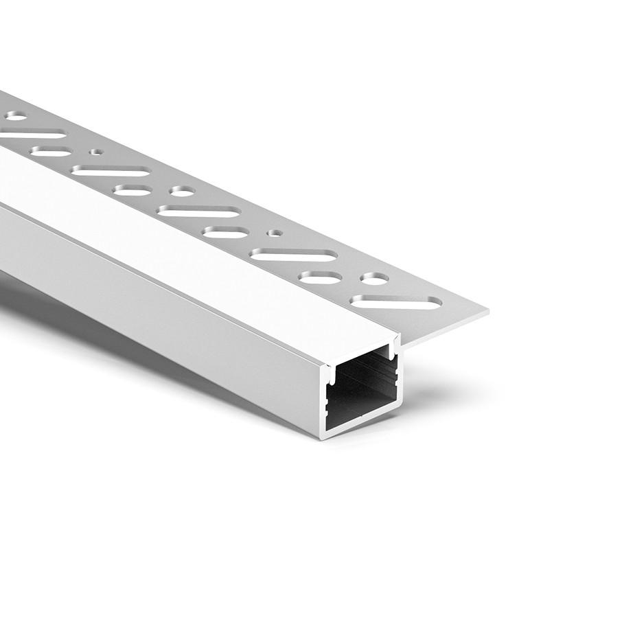 CT5S Trimless Aluminium Extrusions til forsænkning i gipspladerkant 38,8x13,6 mm