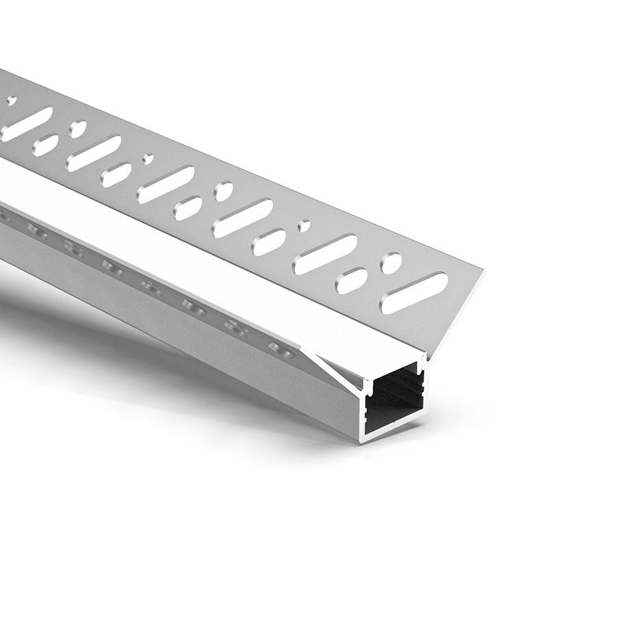 CT6 Trimless Aluminium Extrusions til forsænkning i gipsplader inden i hjørnet 49,8x26,2 mm