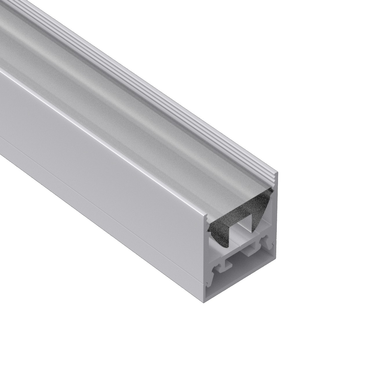 AT12N-3 Dybere overflade firkantet ledprofil 19,7x22,6 mm
