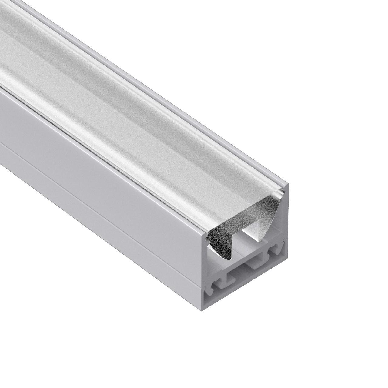 AT12N Overflade firkantet føringsprofil 19,5x16,5 mm
