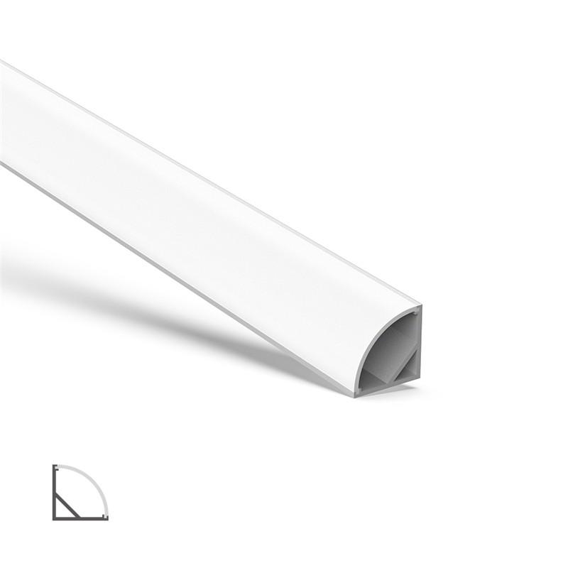 AC2 45˚ hjørne aluminium LED-profil til LED-strip 16x16mm
