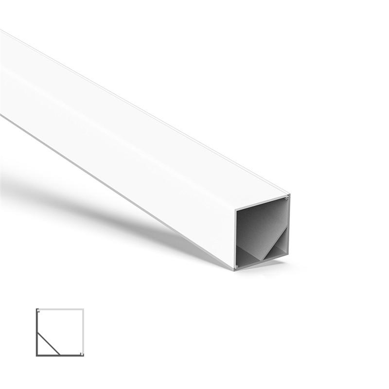 AC4 større 45˚ hjørne aluminium LED-profil til LED-strip 30x30mm