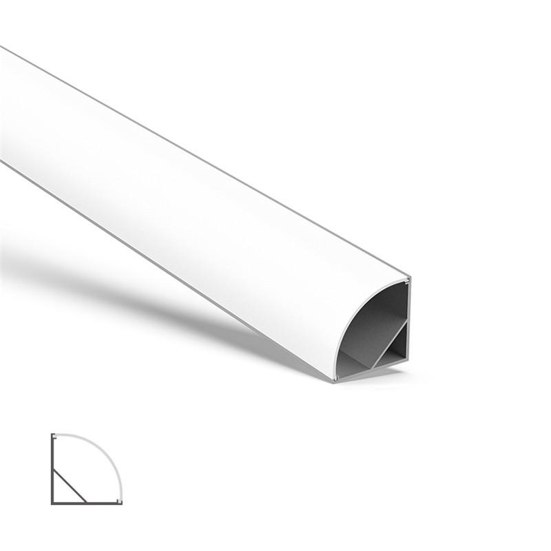 AC5 Større 45˚ halvhjørnet aluminium LED profil til LED Strip 30x30mm