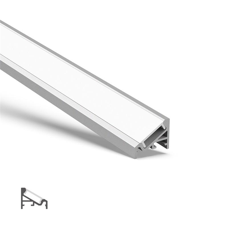 AV2 hjørne 30 ° / 60 ° aluminiums overflademonteringsprofil 20x16mm