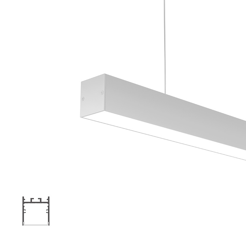 WN35 Surface square led profile 35x37.5mm