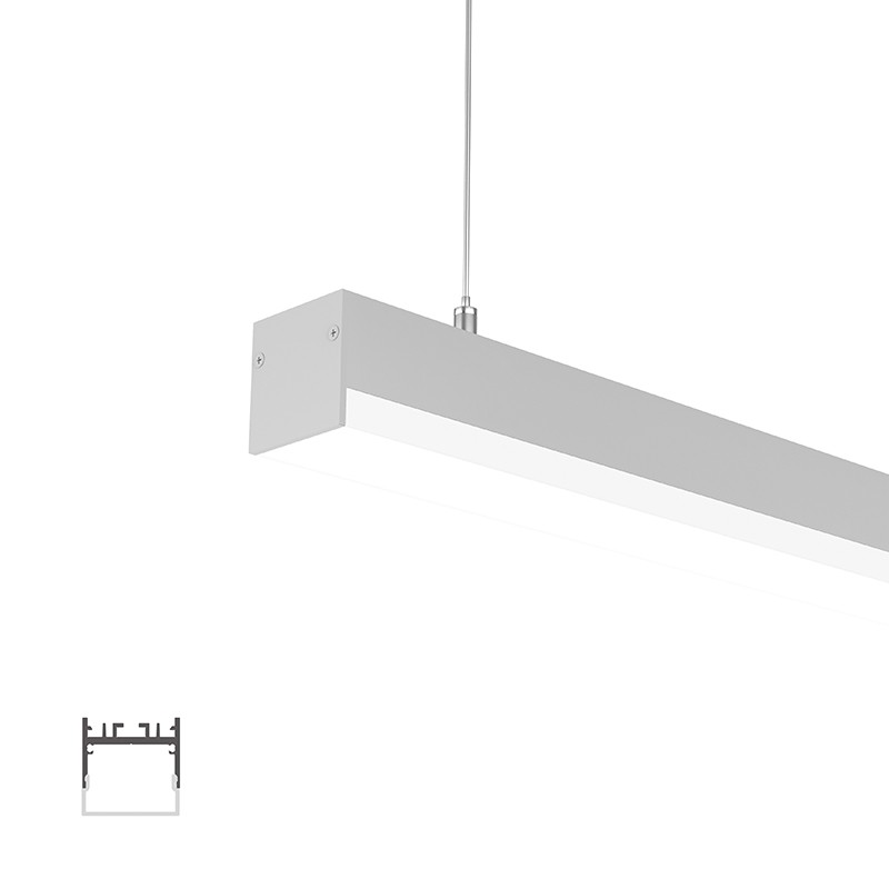 WU35-25 Lower surface square led profile 35x35.4mm