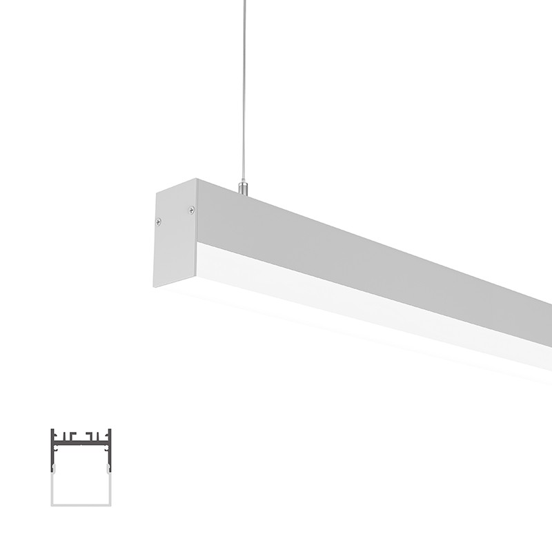 WUH35-25 Lower surface square led profile 35x45.4mm