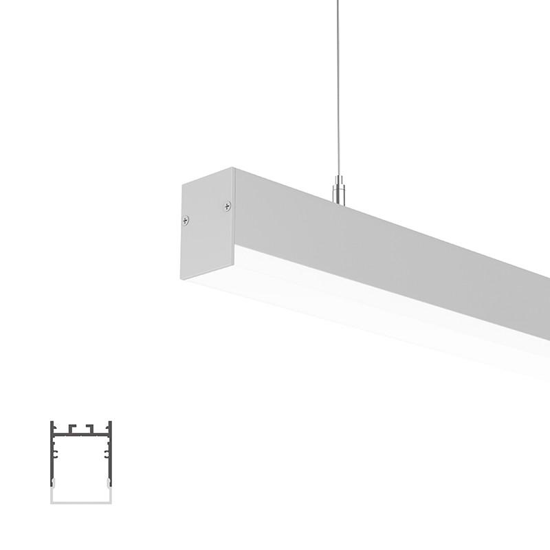 WU35 Square Led-profil 35x47,5 mm