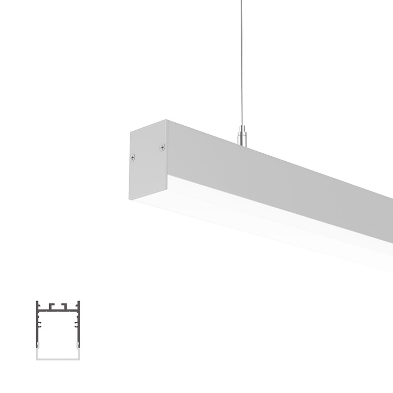 WU35 Square Led Profile 35x47.5mm