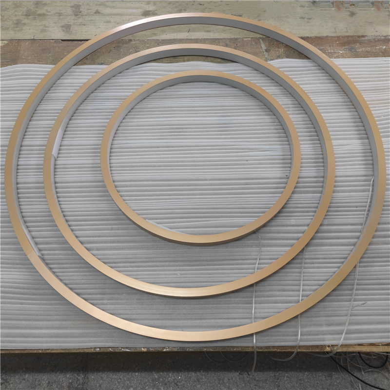 CS35 Gold Inward Circular Led Profiles