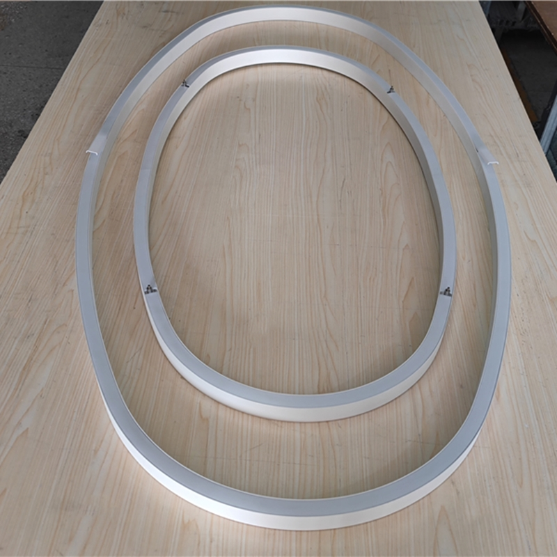 C25H Oval Shape Aluminium Profiles