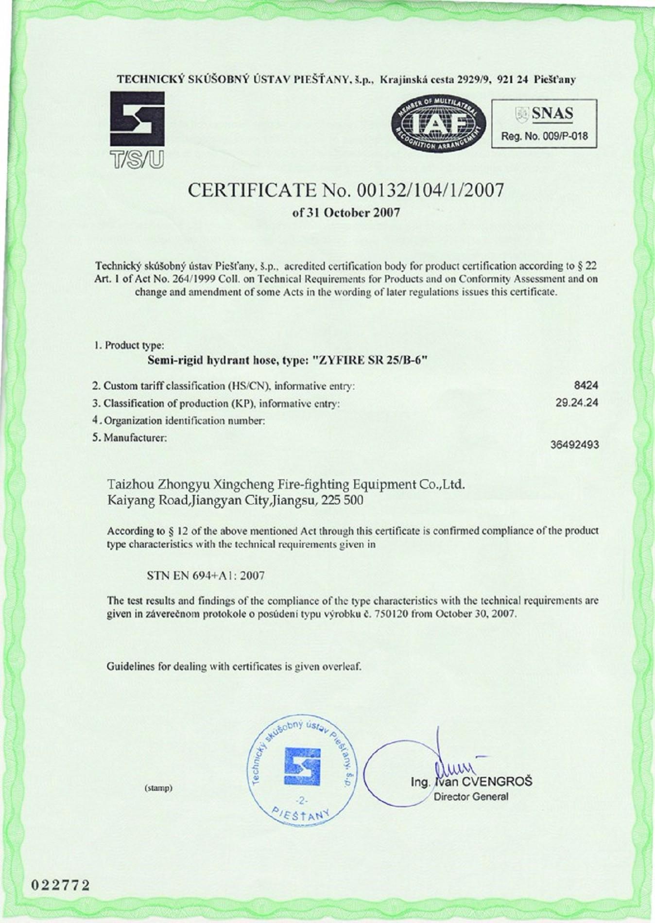 Certificado ZYfire