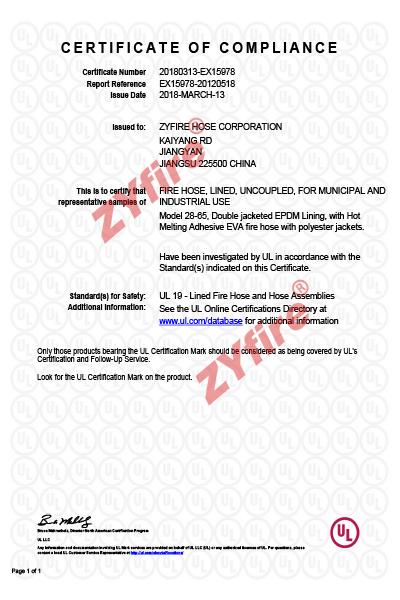 Certificado UL-19 28-65