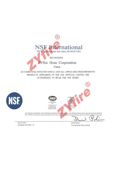 Certificado NSF61