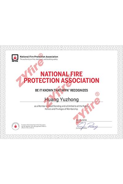 Certificado NFPA