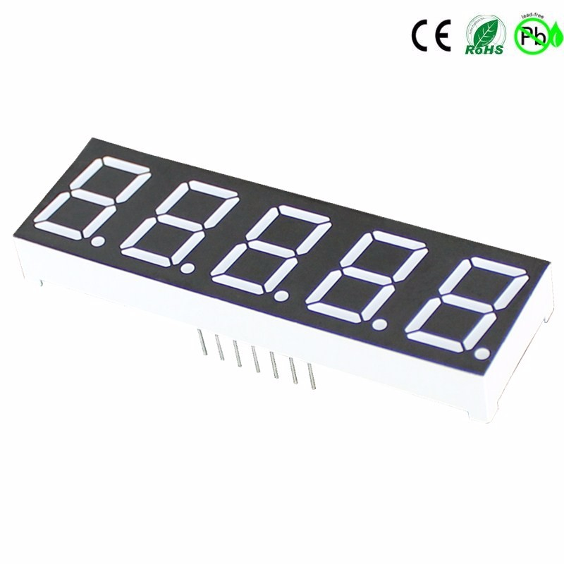 Display LED com 5 dígitos e 7 segmentos