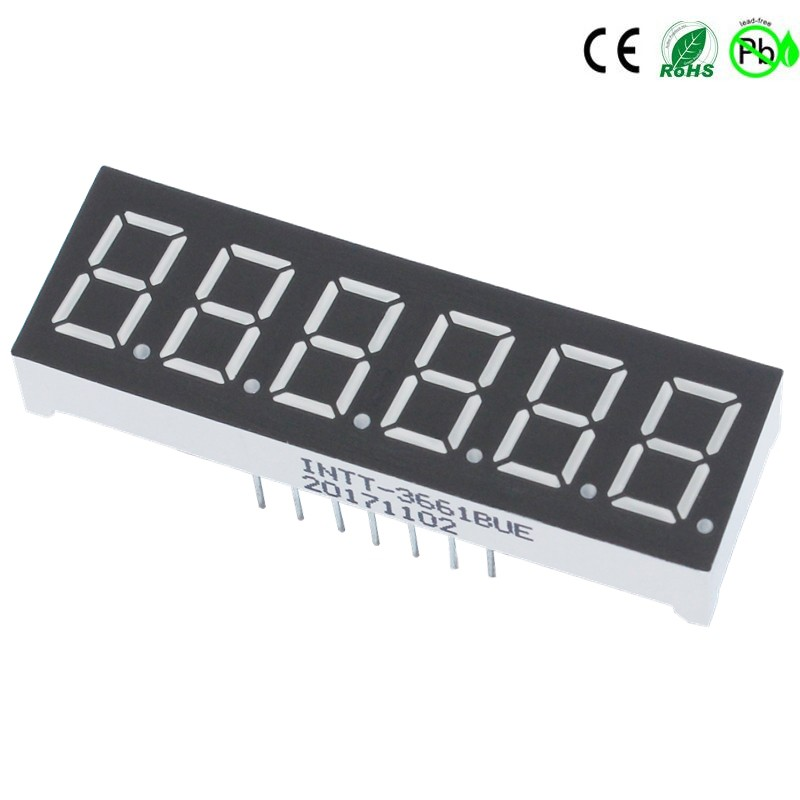 Display LED com 6 dígitos e 7 segmentos